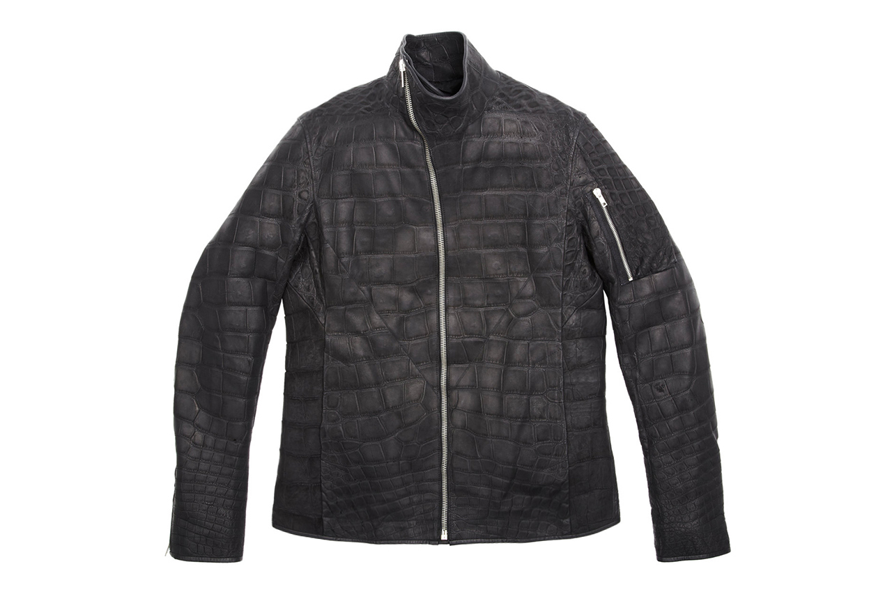 "Image of Rick Owens' $58,000 USD Mollino Crocodile Jacket for Barneys & Jay Z's ""A New York Holiday"""