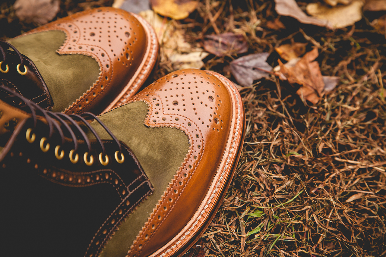 "Image of Social Status x Grenson 2013 Holiday ""Beef & Broccoli"" Wingtip Brogue Boot"