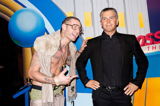 Image of Terry Richardson Photographs RiFF RaFF at a Wax Museum