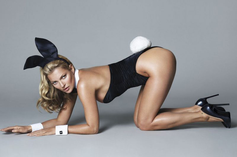 Image of The First Look at Kate Moss as a Playboy Bunny