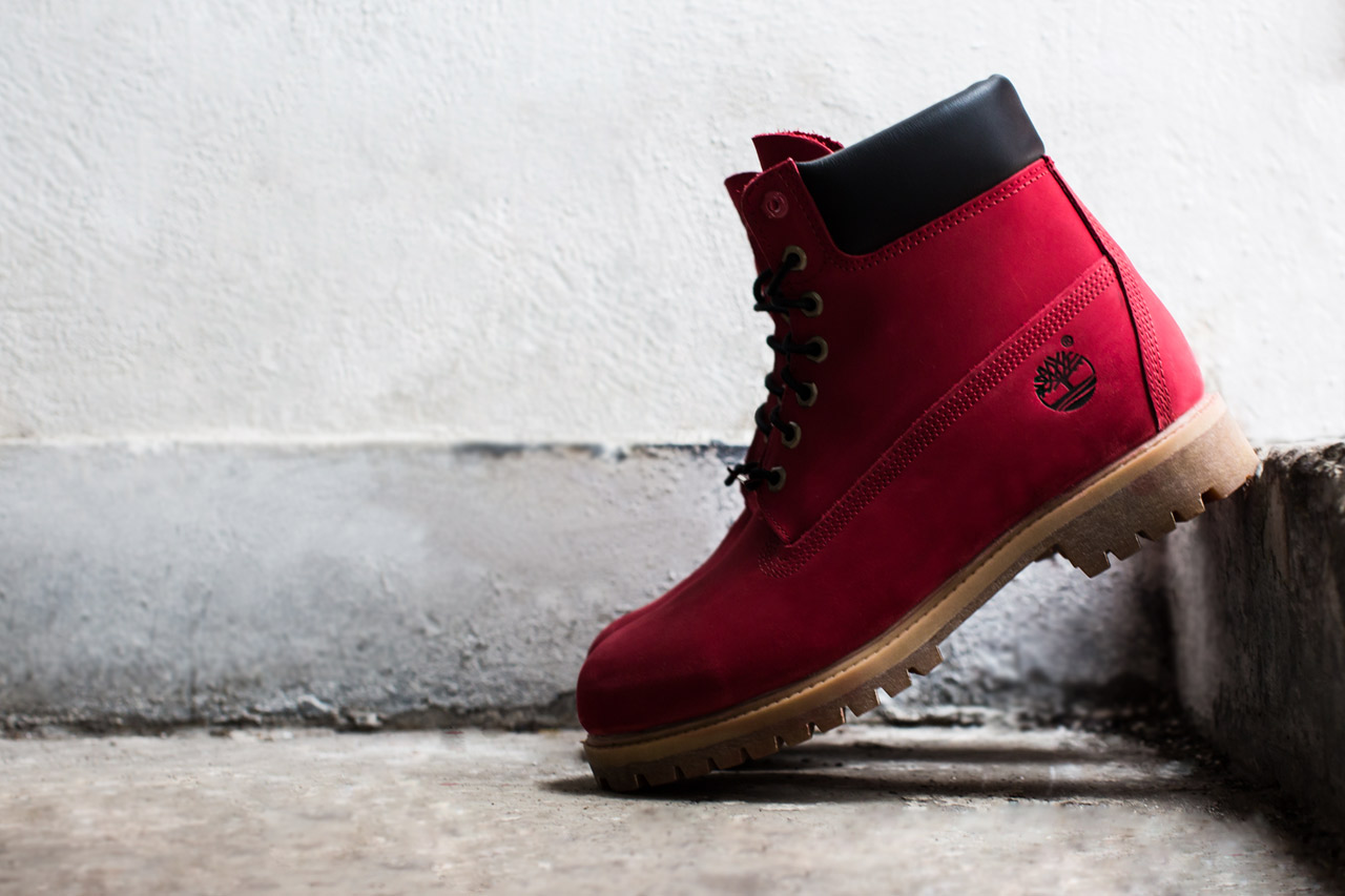 "Image of VILLA x Timberland Limited-Edition ""Join the Movement"" Ruby Red 6"" Boot"