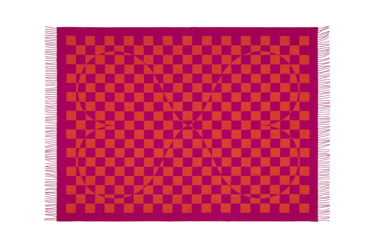 Image of Vitra Jacquard Print Woven Merino Blankets with Eames & Gerard Prints