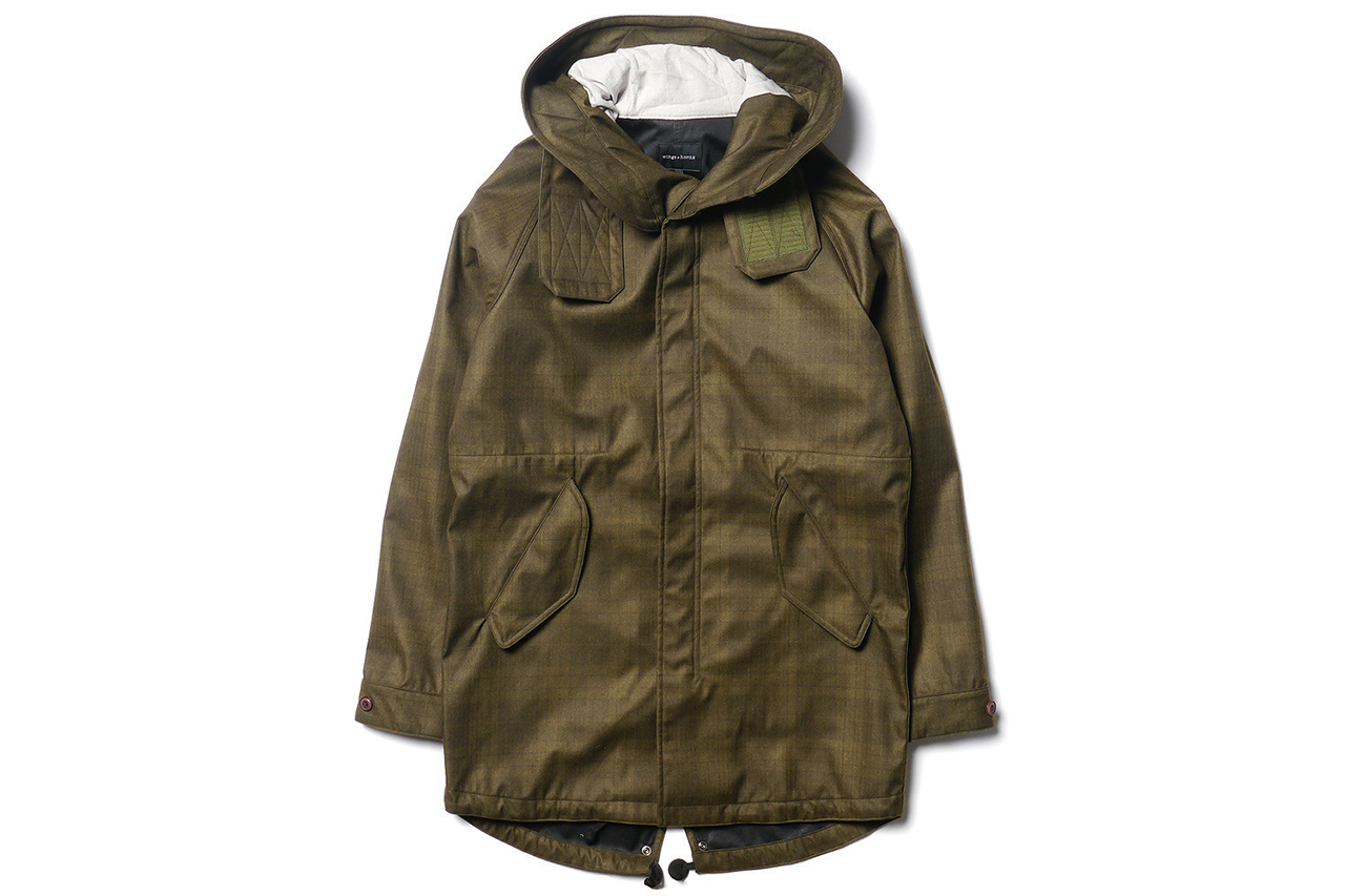 Image of wings + horns Fishtail Parka