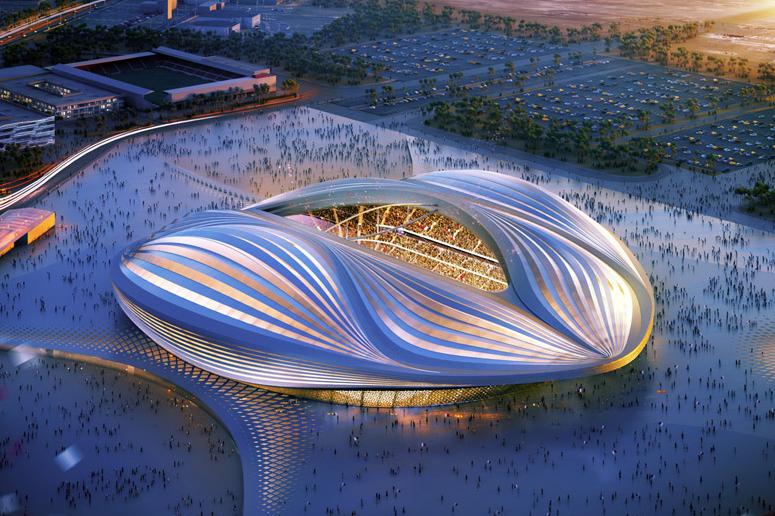Image of Zaha Hadid Unveils Design for Qatar 2022 World Cup Stadium