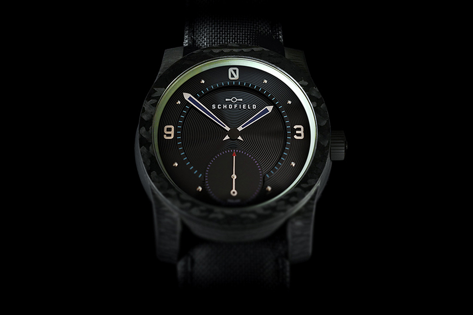 Image of Schofield Watch Company Blacklamp Carbon