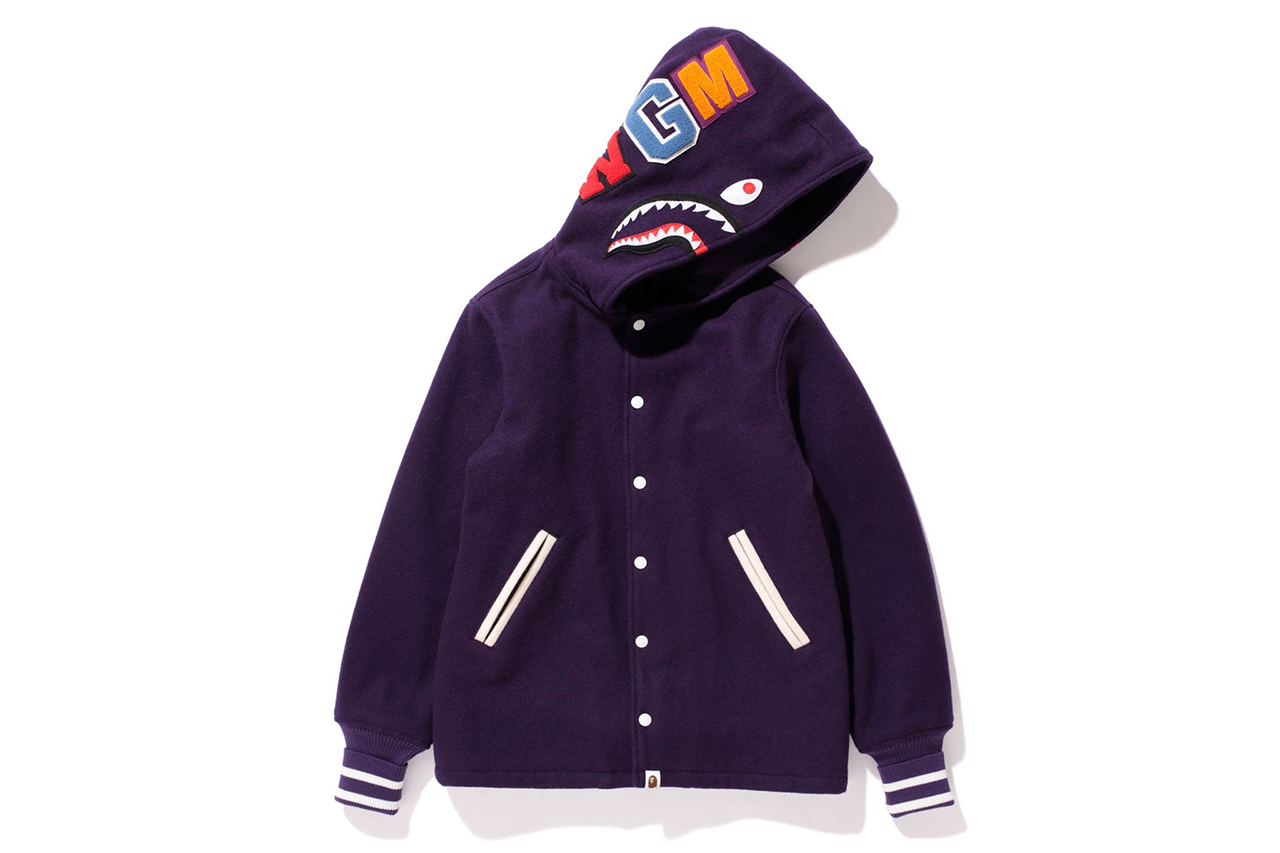 Image of A Bathing Ape 2013 Winter SHARK VARSITY JACKET