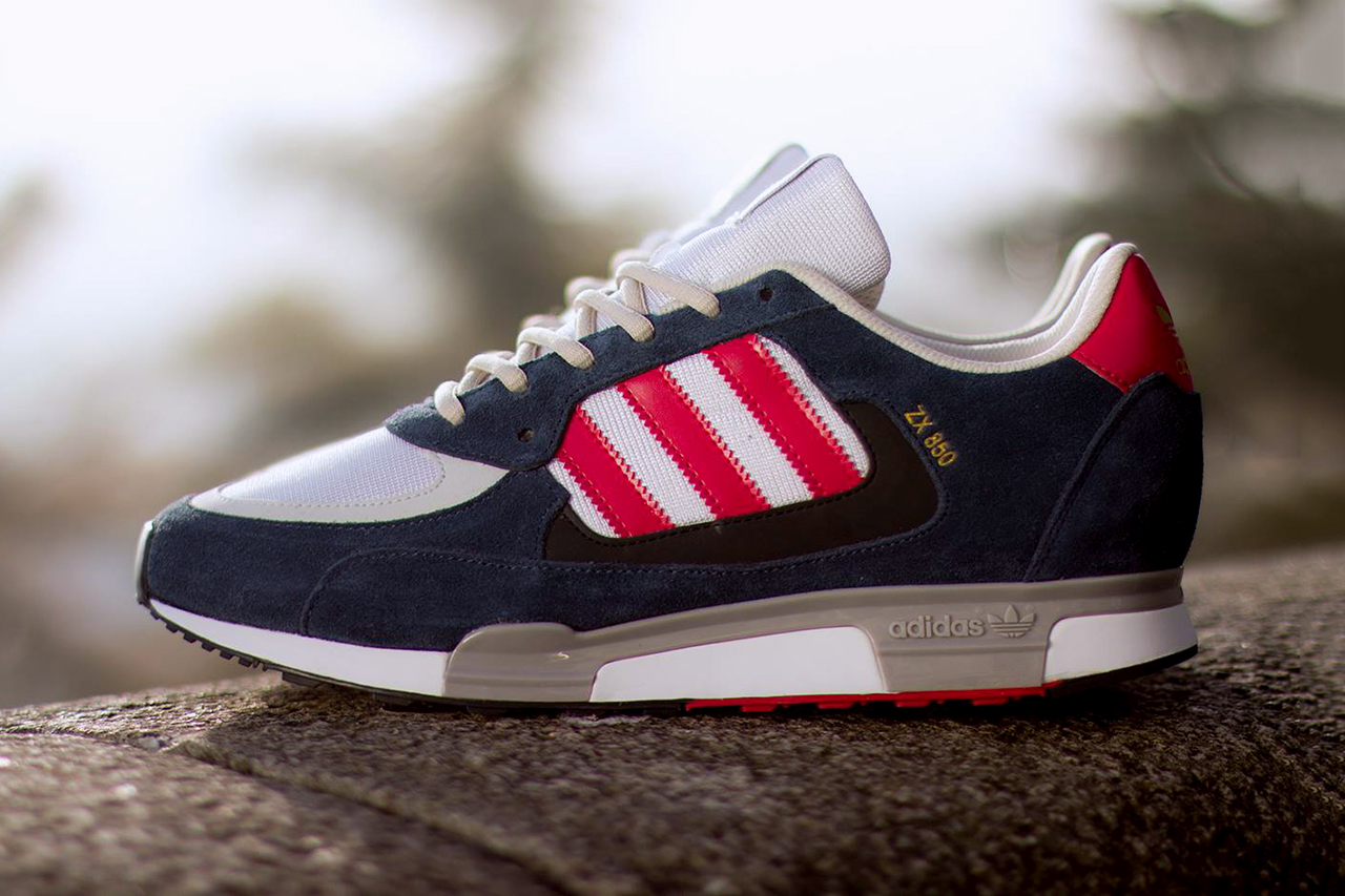 Image of adidas Originals ZX 850 New Navy/Running White/Red
