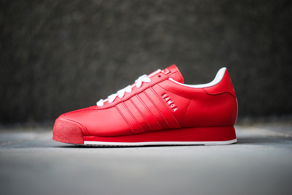Image of adidas Originals Samoa Poppy/Run White