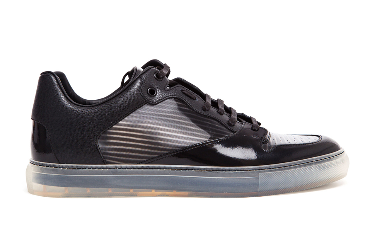 Image of Balenciaga Contrasting Leather and Transparent Trainers