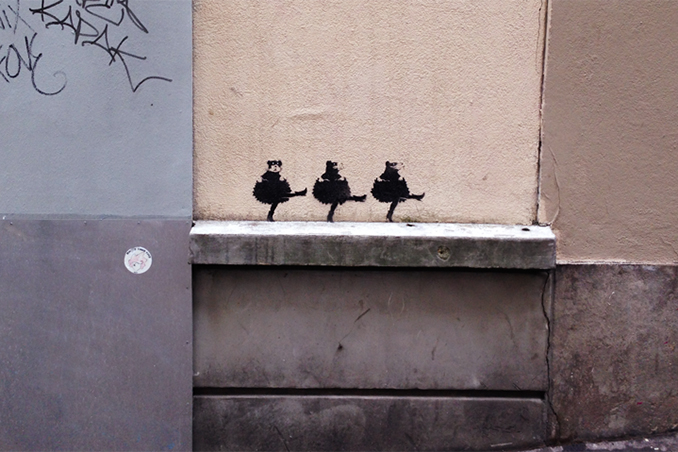"Image of Banksy Launches ""Back to the Roots"" Residency in Paris?"