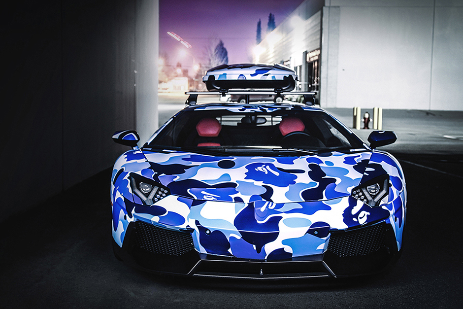 "Image of Liberty Walk LB Performance x Innotech Performance Exhaust x  Lamborghini Aventador ""BAPE CAMO"""