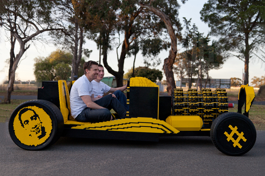 Image of Check Out This Full-Scale, Air-Powered LEGO Hot Rod