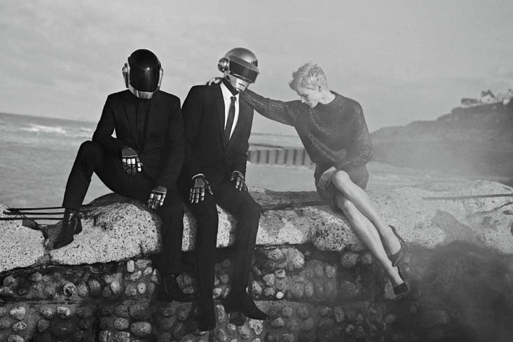 Image of Daft Punk Stars in Editorial for M Le Monde
