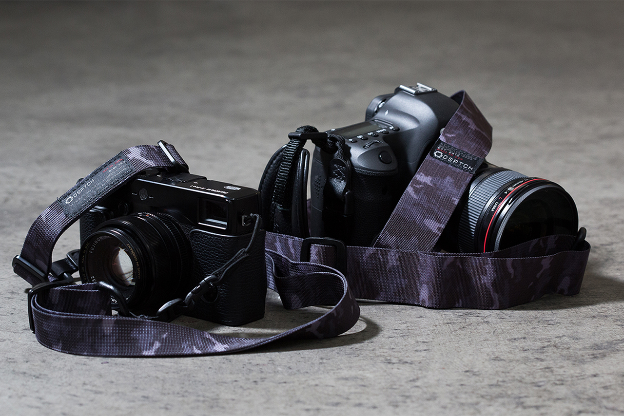 Image of DSPTCH Black Camo Camera Slings