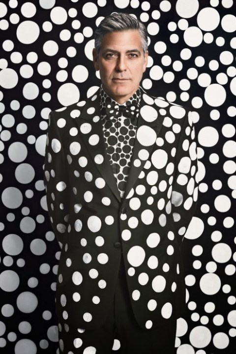 Image of George Clooney by Yayoi Kusama for W Magazine