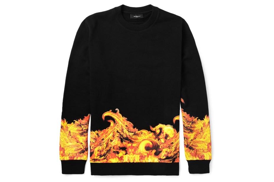 Image of Givenchy Flame-Print Sweatshirt