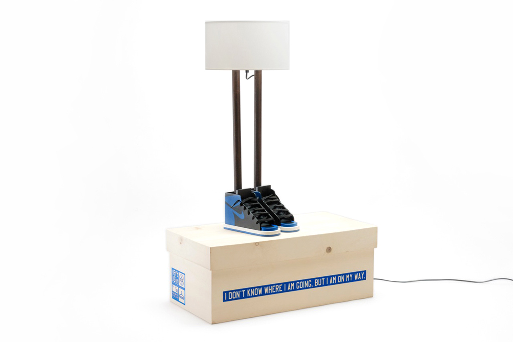 "Image of Grotesk x Case Studyo ""6ft 6in"" Lamp Black/Royal Blue"