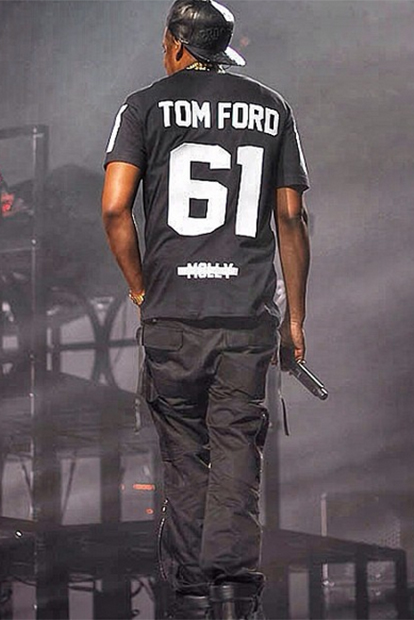 Image of Jay Z Sports Tom Ford on Magna Carter World Tour