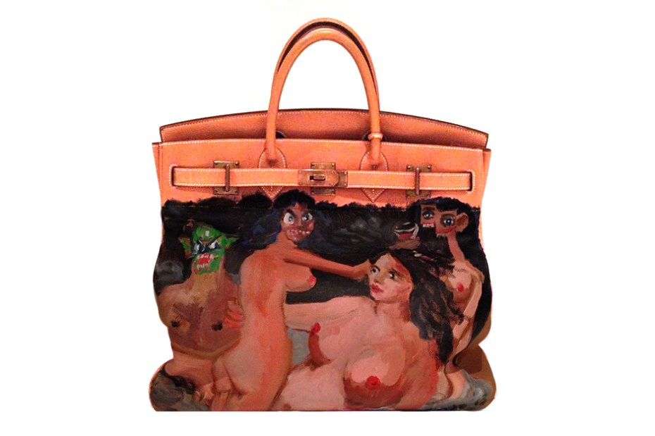 Image of Kanye West Gifts Hand-Painted George Condo Hermès Birkin to Kim Kardashian