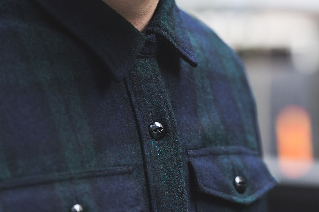 Image of M.V.P. x NEIGHBORHOOD 2013 Fall/Winter Navy NHMV.WOOL Shirt