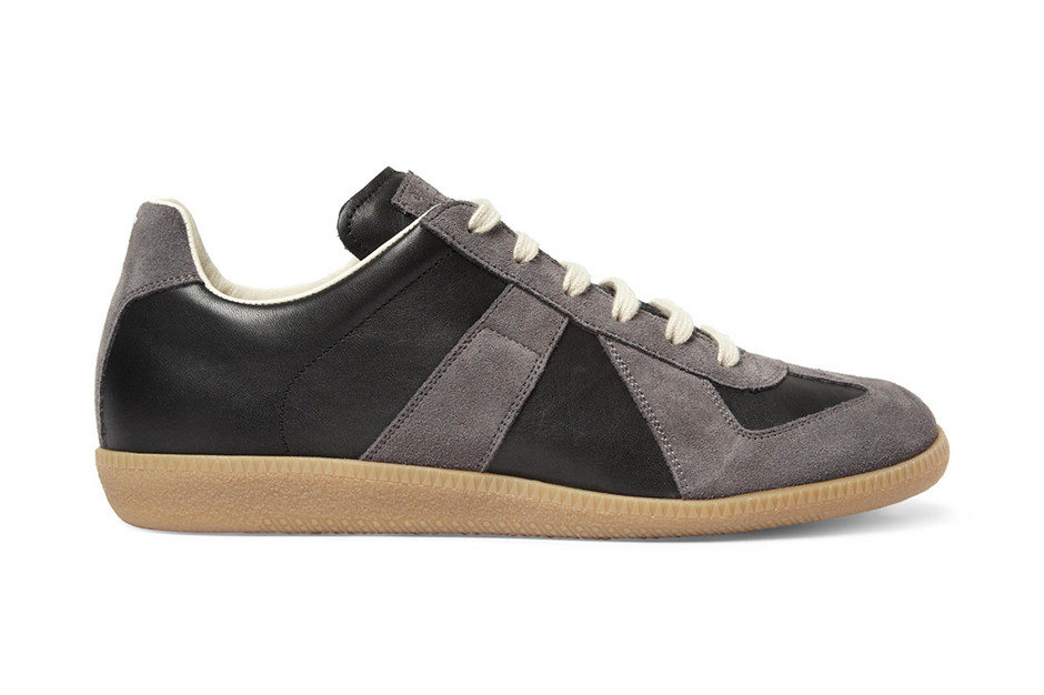 Image of Maison Martin Margiela Leather and Suede Replica Sneakers