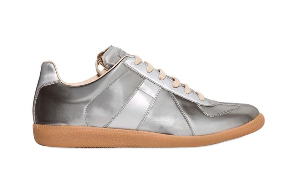 Image of Maison Martin Margiela 22 Silver Replica Sneakers