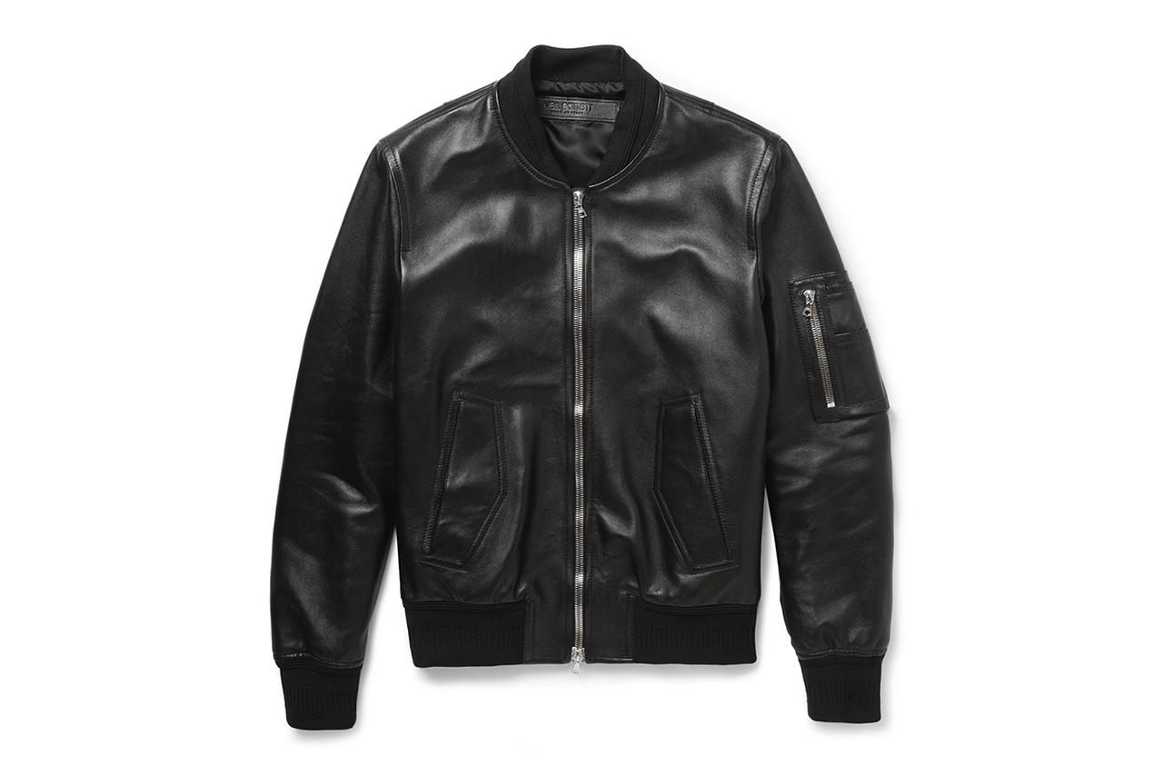 Image of Neil Barrett Leather Bomber Jacket