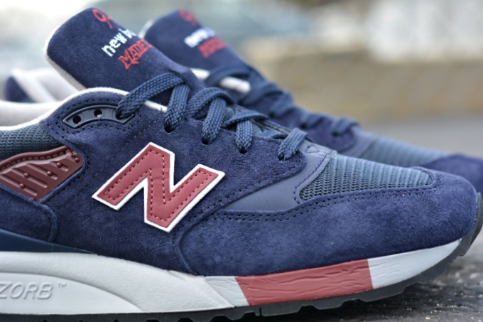 Image of New Balance M998MB Navy/Burgundy
