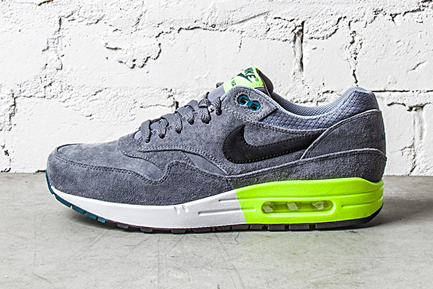 Image of Nike Air Max 1 PRM Grey/Volt