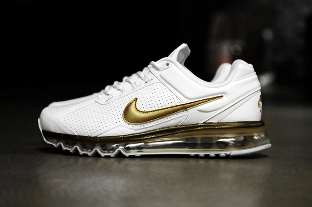 Image of Nike Air Max 2013 Leather QS White/Metallic Gold