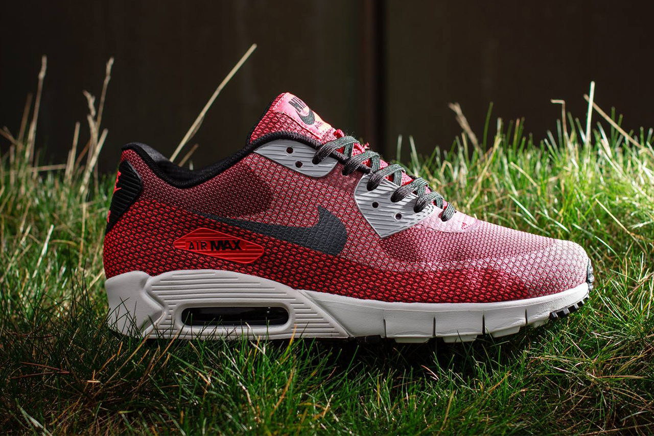 Image of Nike Air Max 90 Current Jacquard Laser Crimson/Dark Grey