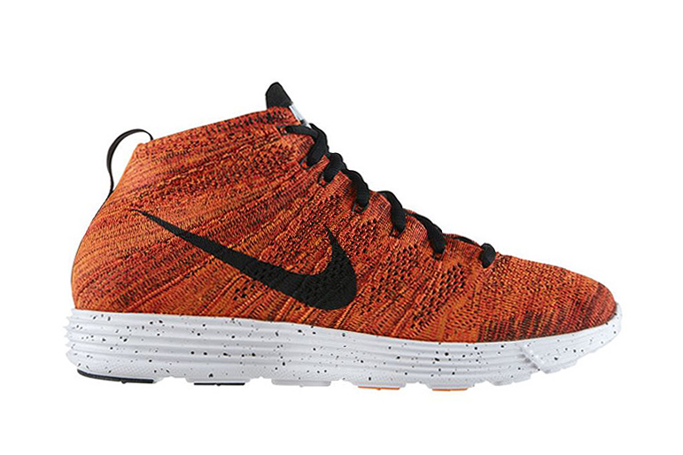 Image of Nike Lunar Flyknit Chukka Bright Crimson/Black-Total Orange-White