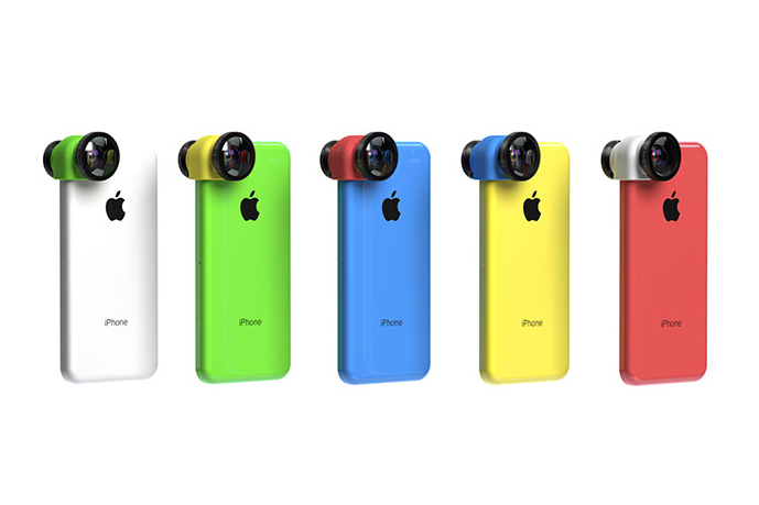 Image of Olloclip 3-in-1 Lens For iPhone 5c