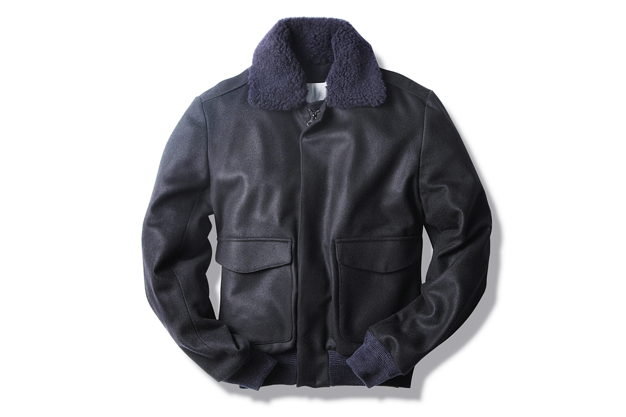 Image of Patrik Ervell Navy/Black Aviator Jacket