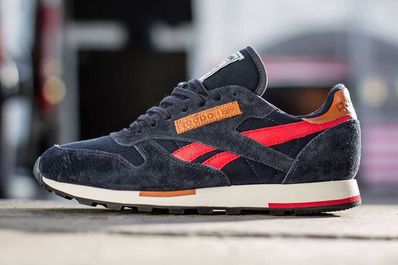 Image of Reebok Classic Leather Utility Reebok Navy/Stadium Red/Sandtrap/Black