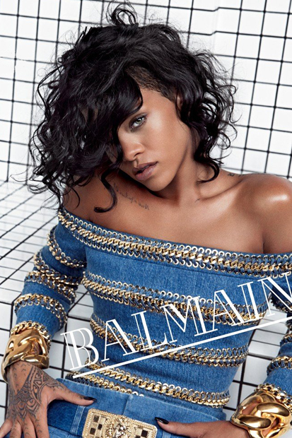 Image of Rihanna is the Face of Balmain's 2014 Spring/Summer Campaign