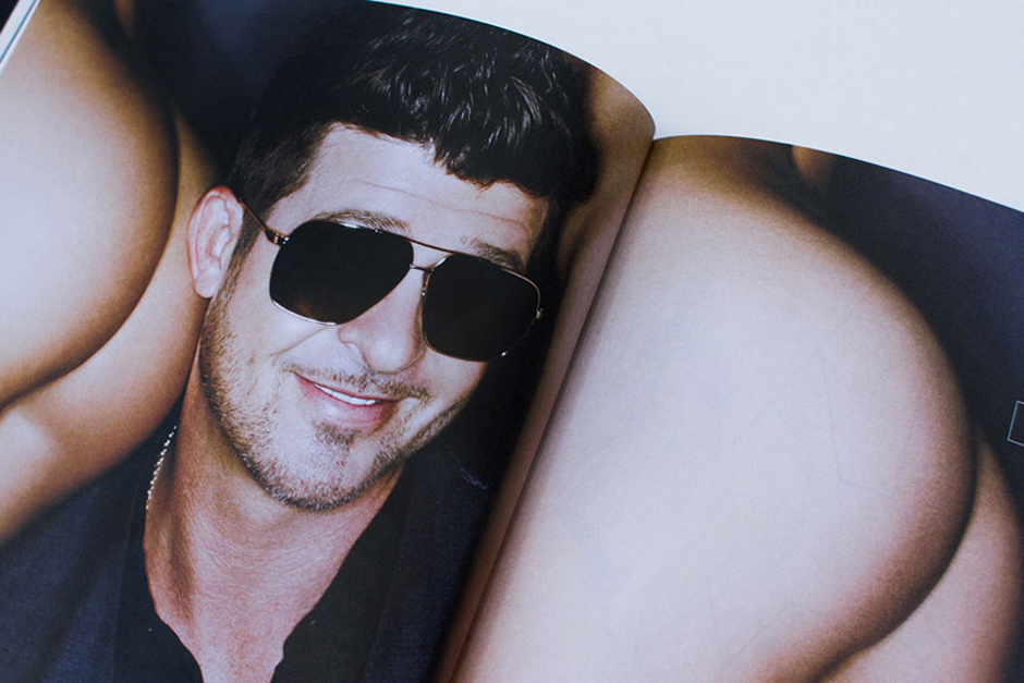 Image of Robin Thicke on the Cover of Treats! Magazine