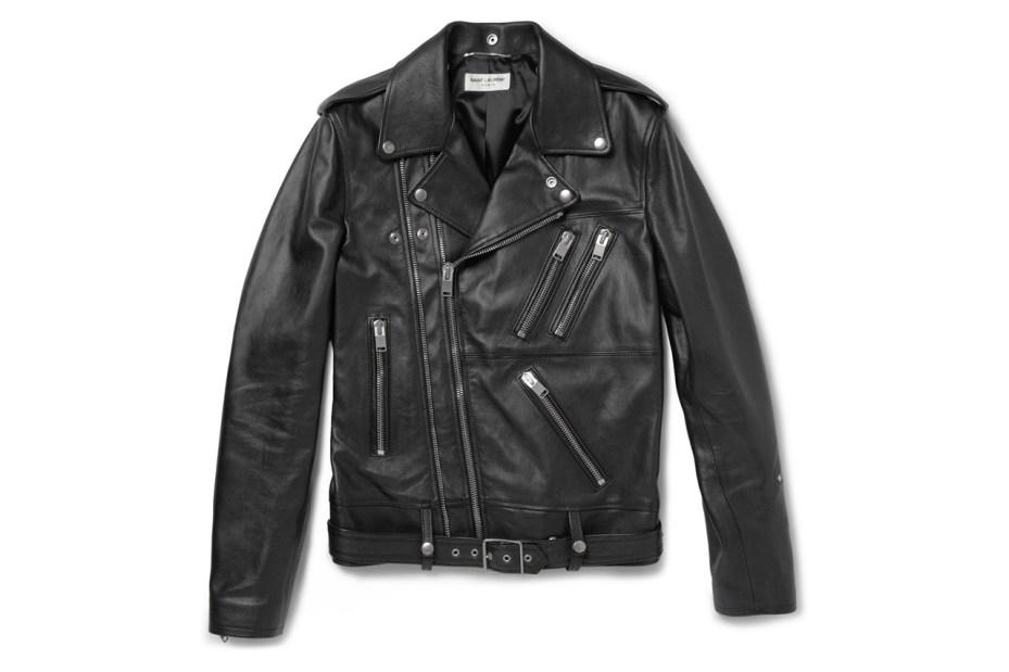 Image of Saint Laurent Leather Biker Jacket