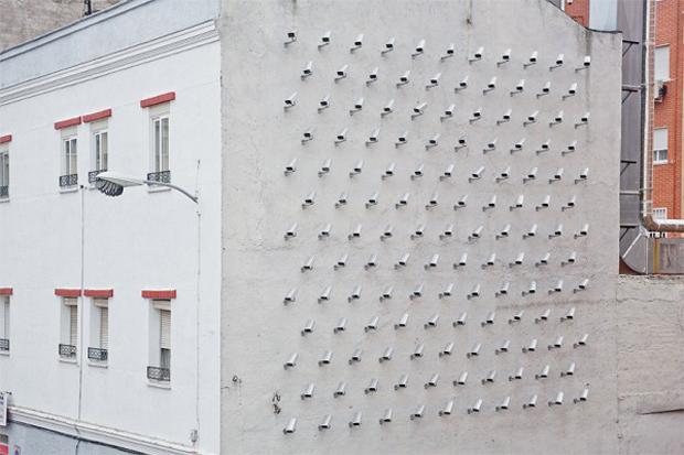 """Image of SpY """"Cameras"""" Street Installation in Madrid"""