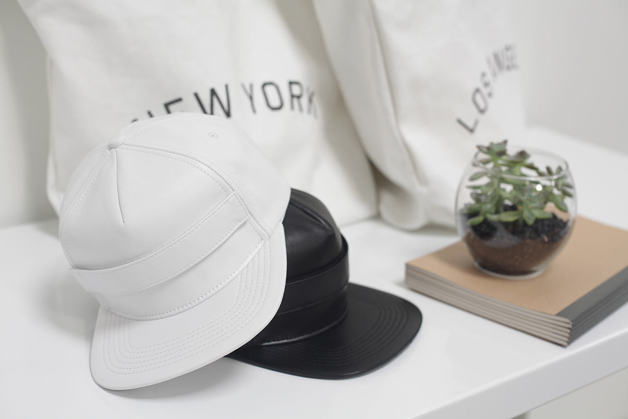 Image of Stampd Velcro Strapped Lambskin Snapbacks