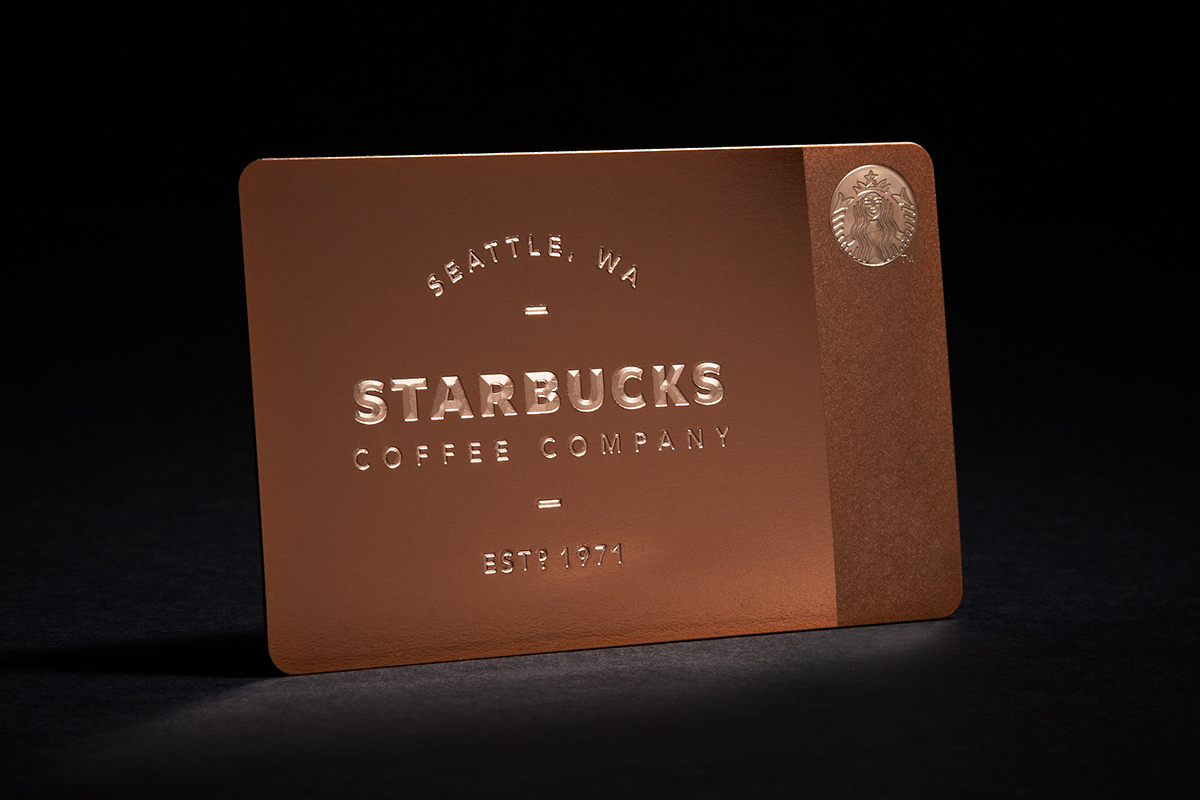 Image of Starbucks Limited Edition Metal Gift Card for Gilt
