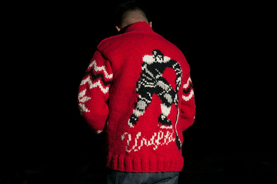 "Image of Undefeated x Canadian Sweater Company Ltd. ""Penalty"" Sweater"