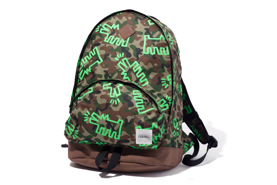 "Image of XLARGE x Keith Haring ""Camo Dog"" Backpack Collection"