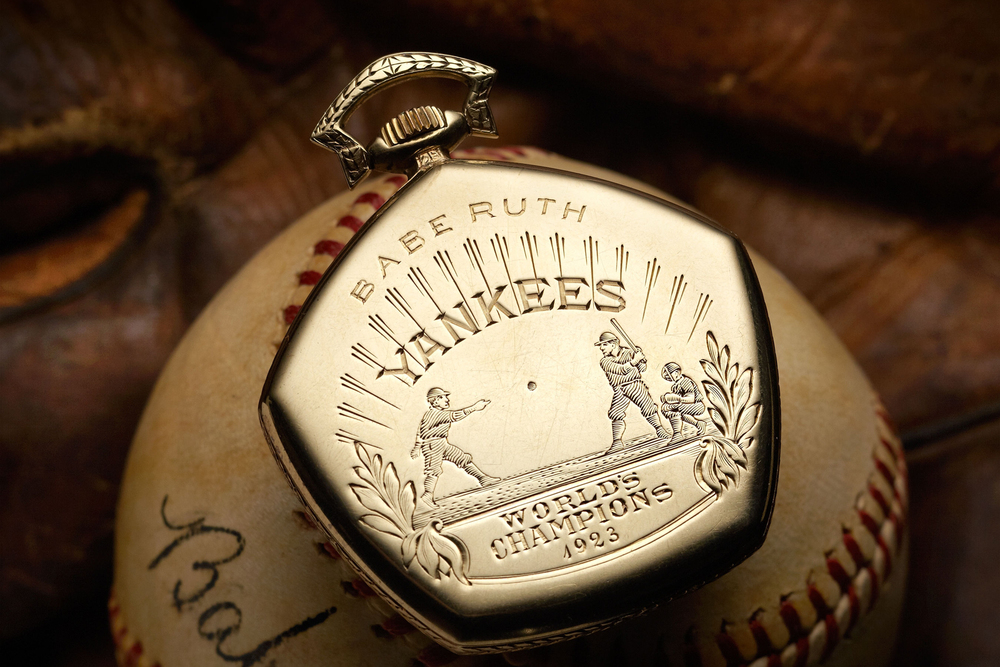 Image of A Look at Babe Ruth's 1923 Yankees World Series Gruen Pocket Watch