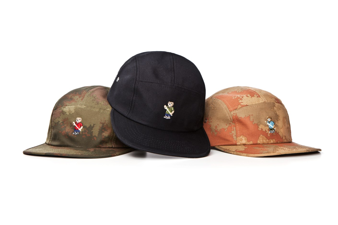 "Image of Acapulco Gold ""Angry Lo Bear"" Camp Caps"