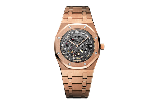 Image of Audemars Piguet Royal Oak Openworked Extra-Thin Rose Gold