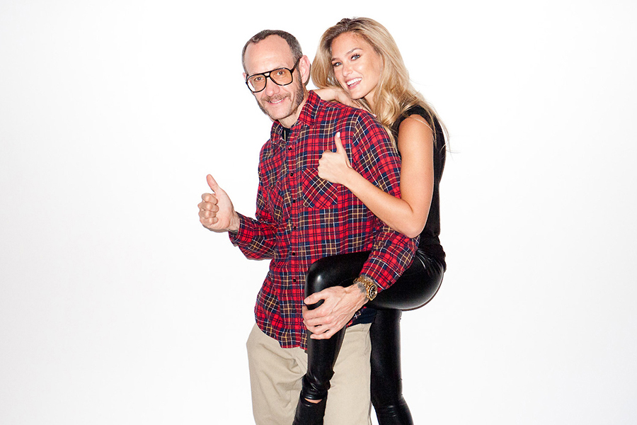 Image of Wale, Bar Refaeli and Diane von Furstenberg Visit Terry Richardson's Studio