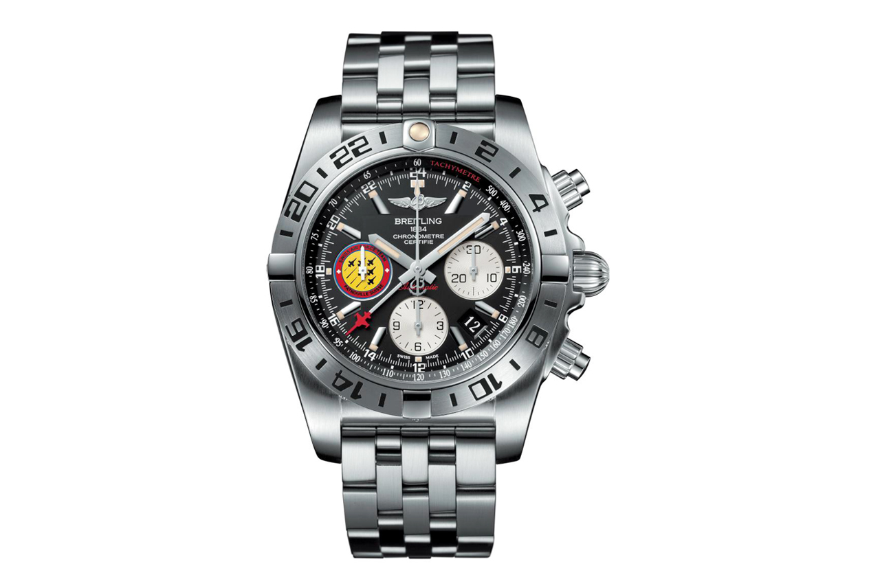 Image of Breitling Chronomat 44 GMT Patrouille Suisse 50th Anniversary
