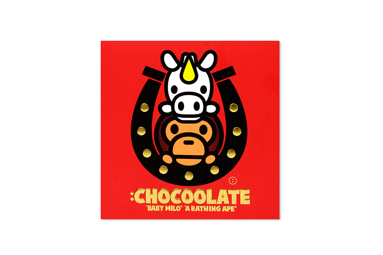 "Image of :CHOCOOLATE x A Bathing Ape BABY MILO ""Year of the Horse"" Collection"