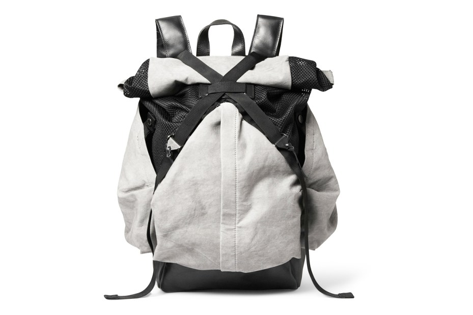 Image of Christopher Raeburn Aruck Leather and Canvas Backpack
